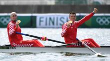 Olympics-Rowing-Croatia, New Zealand triumph in men's and women's pairs