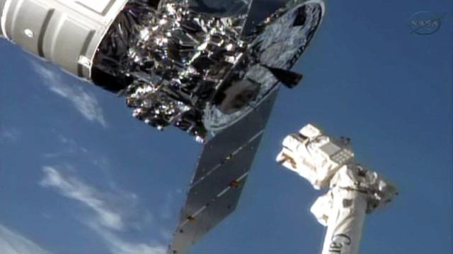 Watch: ISS releases Cygnus capsule into space