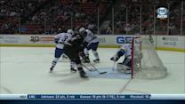 Corey Perry scores with one hand on his stick