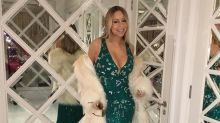 Mariah Carey Flaunts Svelte Bod in Plunging St. Patrick's Day Gown
