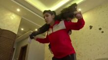 Jordanian judo player tries to stay fit during lockdown