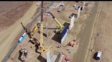 Drone Footage Gives Aerial View of Prototype Border Walls at US-Mexico Border