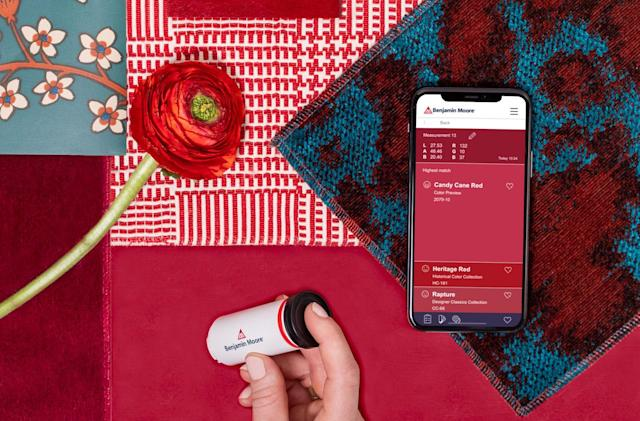 Benjamin Moore's ColorReader can match your paint with your shirt