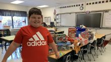 Third-grader cried 'happy tears' when classmates organize Toy Drive after he lost everything in a house fire