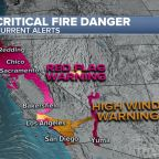 High winds in California help spread dangerous wildfires