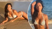 Nicole Scherzinger sizzles in tiny string bikini beach snaps