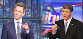 Yahoo TV - The friction between Seth Meyers and Sean Hannity came to a head on Fox News, Thursday