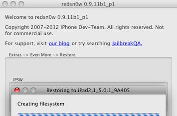 Redsn0w 0.9.11b1 now allows post-iPad 2 devices to downgrade to an older firmware