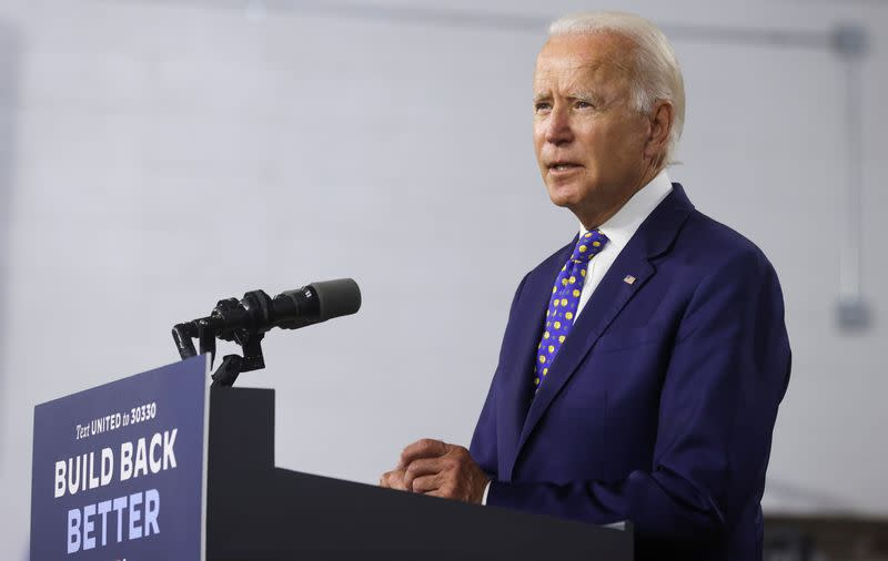 Democratic presidential candidate Joe Biden holds campaign event in Wilmington, Delaware