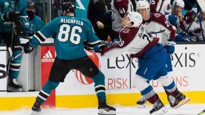 Blichfeld in trouble for dirty hit on MacKinnon