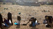In pictures: Glastonbury rubbish clean-up operation begins as music fans head home from festival