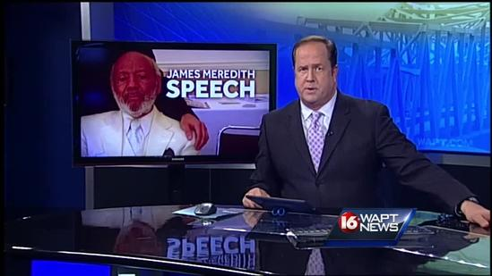 James Meredith was honored for his writing