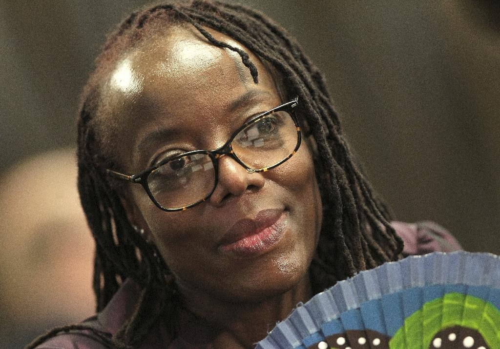 Zimbabwean author Tsitsi Dangarembga at the Frankfurt book fair