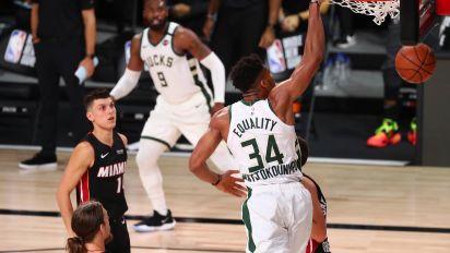 Bucks lock up top spot in East with rally vs. Heat