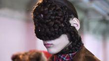 Londoner Fashion Week: Wenn aus Haaren Hüte werden