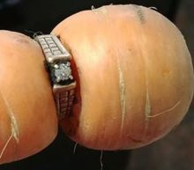 'It still fits': Engagement ring missing for more than a decade turns up on garden carrot
