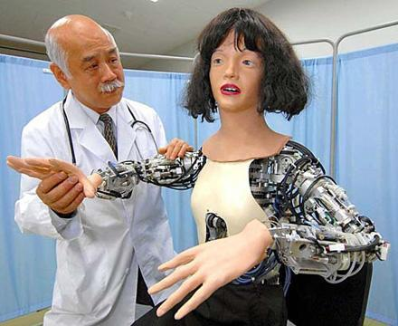 Robotic patient aurally, visually informs you of its ailments