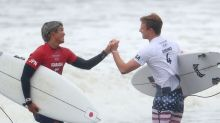 Olympics-Surfing-Surfers embrace stormy conditions with medals up for grabs