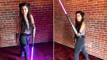 'Bionic Actress' goes viral for 'Star Wars' cosplay complete with lightsaber arm