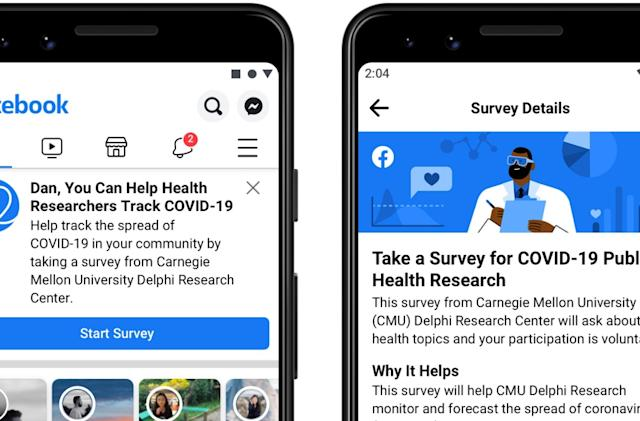Facebook and Carnegie Mellon launch survey to track Covid-19