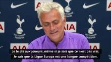 """37e j. - Mourinho : ''Notre niveau, c'est la Ligue des champions"""""""