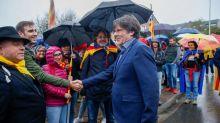 Puigdemont rechaza responder a la prensa en una concentración en Waterloo