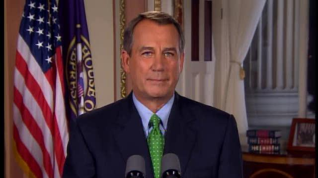 Speaker John Boehner on debt ceiling