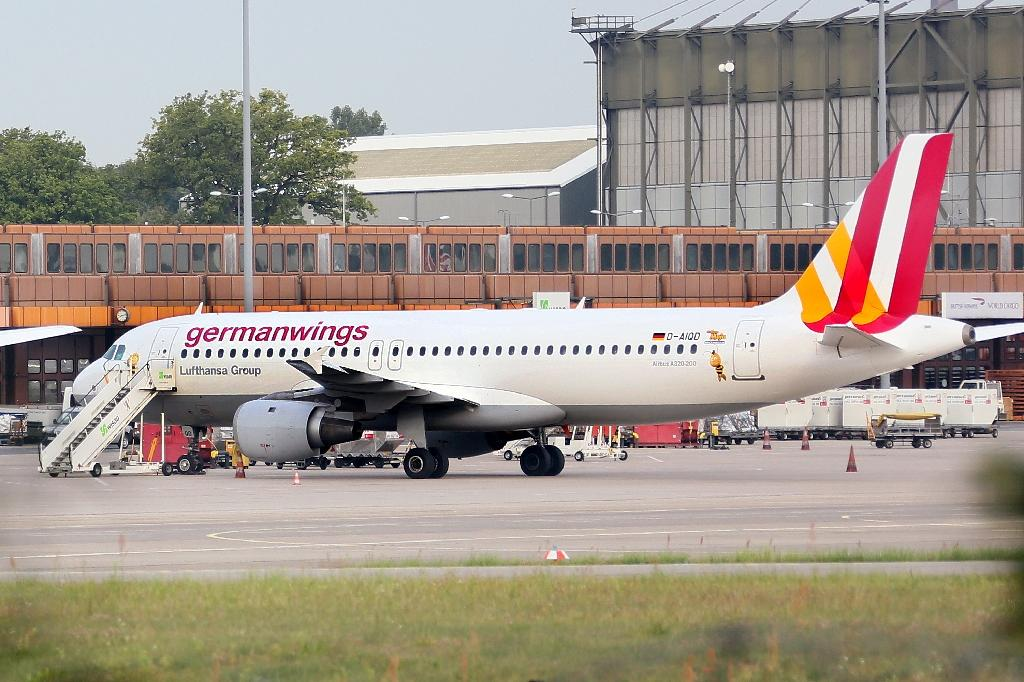 A Germanwings Airbus A320 pictured at Berlin's Tegel airport in August 2014