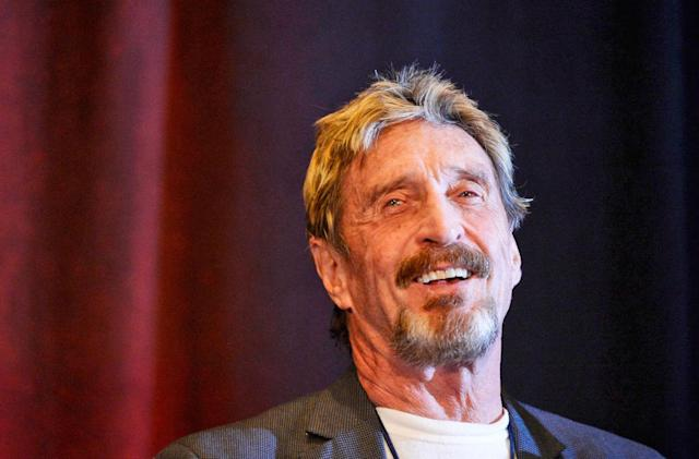 John McAfee settles Intel lawsuit over the rights to his name