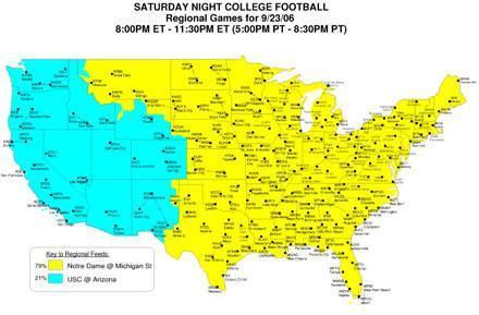 ABC HD College Football Regional Coverage Maps