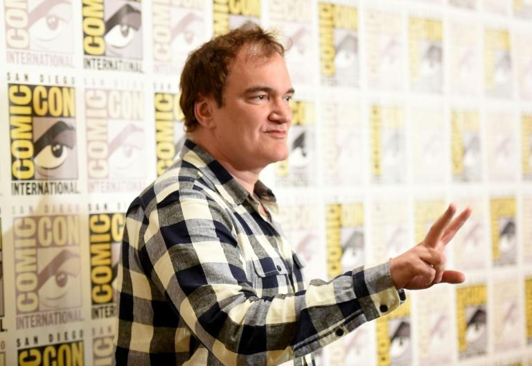Quentin Tarantino went from wandering the halls of Comic-Con as a guest to appearing front and centre on stage (AFP Photo/Jason Merritt)