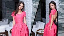 Emily Ratajkowski wore a demure ballgown on the red carpet this weekend
