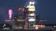 NASA will test-fire its 1st SLS megarocket for moon missions today. Here's how to watch.