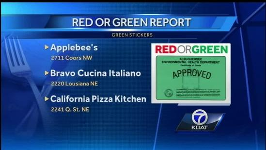 Red Or Green Restaurant Report: May 11, 2014
