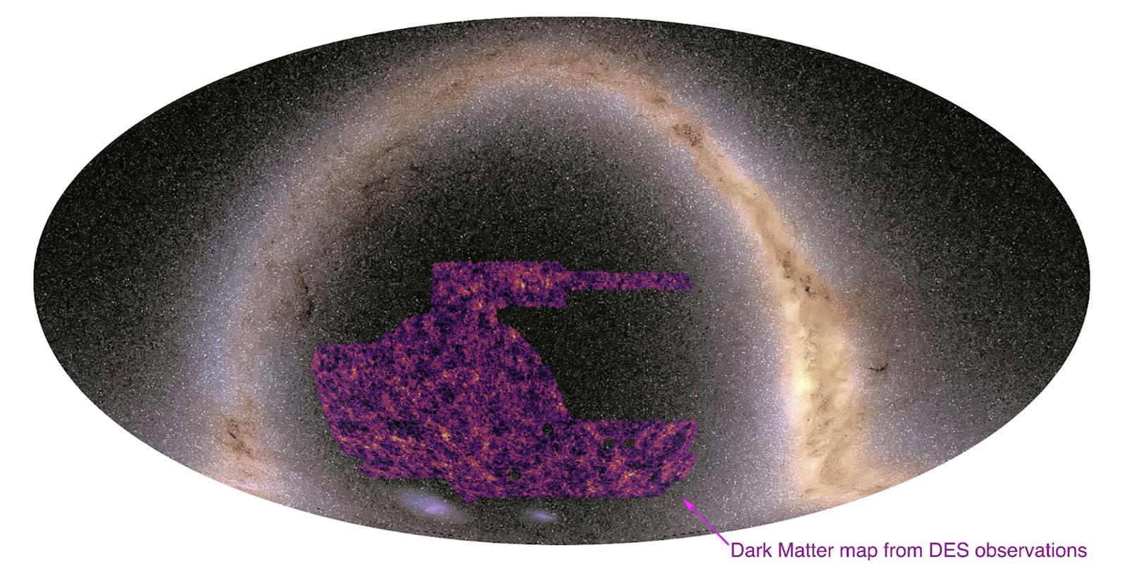 A Dark Matter map from the Dark Energy Survey.