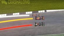 Fórmula 1. Un video analiza con números y detalles el choque, mientras Lewis Hamilton y Max Verstappen siguen disparando