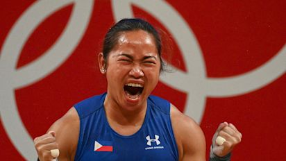 Filipino weightlifter Diaz snaps 97-year drought
