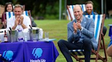 Prince William hosts garden party to watch FA Cup Final and raise mental health awareness