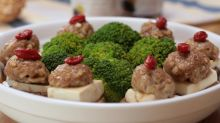 Steamed Pork with Mushrooms and Black-boned Chicken Essence