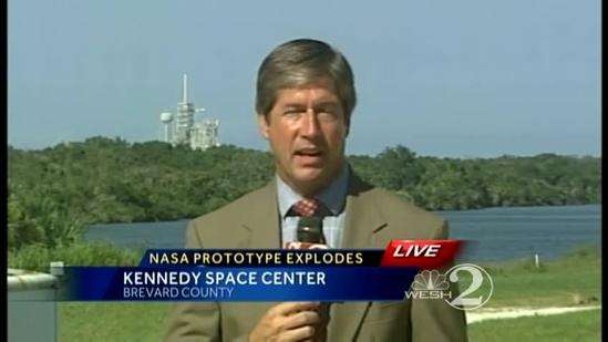 Prototype spacecraft crashes, explodes at Kennedy Space Center