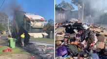 'Don't do it': Warning after dangerous recycling habit sparks fire