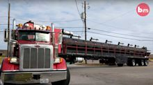 Truck Driver Creates World's Biggest Barbecue Pit On Wheels