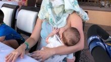 Breastfeeding mum furious over being asked to 'cover up' in café