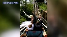 Couple renews vows on roller coaster to celebrate 10th anniversary