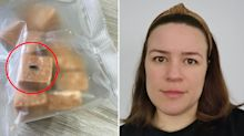 Woman finds mysterious 'nugget' inside fudge that 'turned blue'