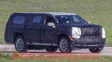 2020 Chevy Suburban spy shots reveal a shocking suspension situation