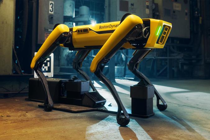 Boston Robotics Spot robot dog with enterprise cradle
