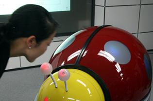 Ladybug-styled robot to clean restrooms, give travel tips