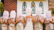 Candy floss bouquets are set to be this year's most popular wedding trend