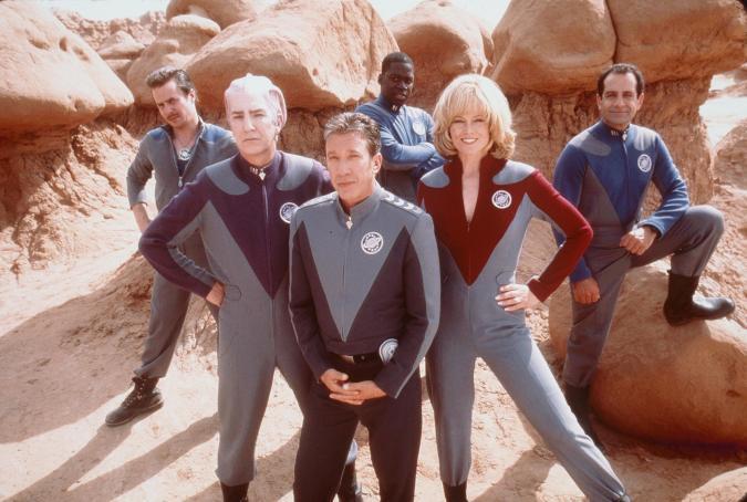 "1999 Tim Allen, Sigourney Weaver, Alan Rickman, Sam Rockwell, Tony Shalhoub, and Daryl Mitchell, stars in the movie ""Galaxy Quest."" Photo Dreamworks"